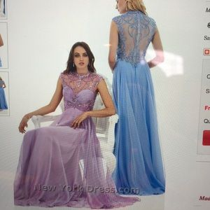 Gorgeous prom dress Periwinkle blue worn once.